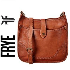 NWT authentic FRYE genuine leather large crossbody